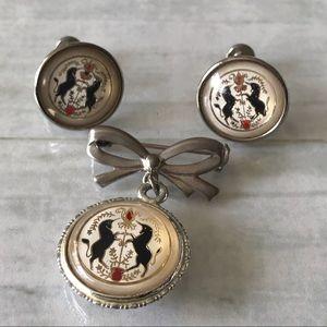 🦄 Unicorn Earrings and Brooch